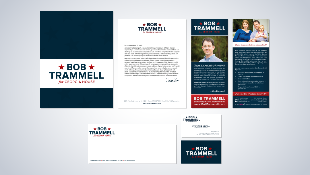 Bob Trammell for GA House Brand Identity