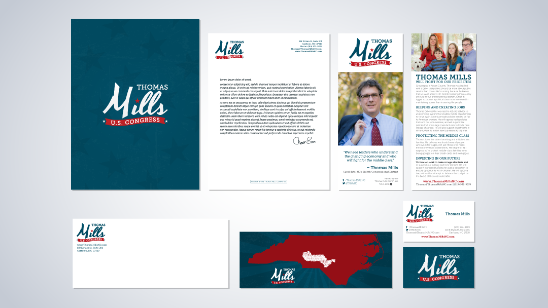 Thomas Mills for U.S. Congress Branding