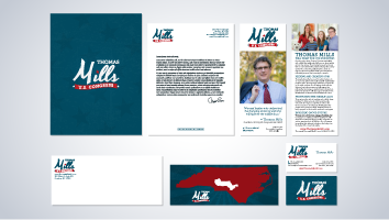 Thomas Mills for U.S. Congress Brand Identity